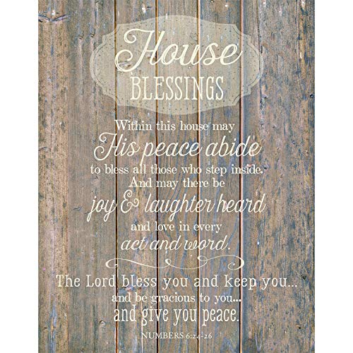 House Blessing Wood Plaque Inspiring Quote 11.75