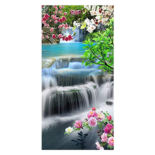 DIY 5D Diamant Painting Full Drill Diamante Ornamente Landschaft Wasserfall Kristall Strass Stickerei Kreuzstich Kunst Craft Supply Canvas für Home Küche Hotel Salon Wand Dekoration 45 x 85 cm