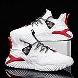 Fnho Calzado para Correr por Carretera,Zapatos de Gimnasia Zapatos Ligeros,Calzado Casual de Hombre, Zapatillas Deportivas de Tendencia-White_40