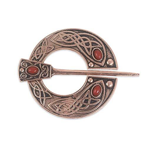 ZWLZQ Broschen Brosche Silber Bronze Kupfer Brosche Für Kleid Suite Mantel Für Männer Frauen Schmuck Accessoires Accessories Rot