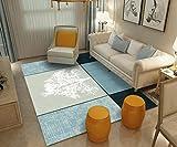 ASFG Tapis à la Maison Style Minimaliste Nordique Grand Tapis Salon Moderne canapé géométrique Table Basse Chambre Tapis Maison Impression, 06, 60 * 90 cm