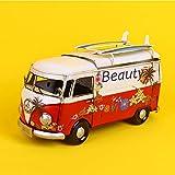 DAMAI STORE Coches De Papel Bus Cuadro Dibujado Casa Equipamiento Suave Regalo De Cumpleaños Cafetería Simple Barra De Artesanías Decorativas Hogar Decoraciones Modelo De 11,5 * 32 * 18cm