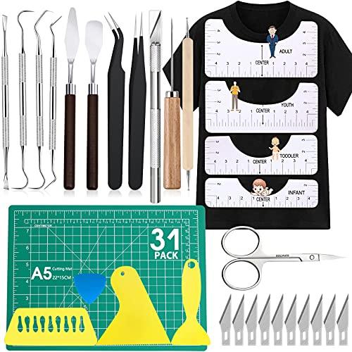 31Pack Weeding Tools for Vinyl Vinyl Tools Weeding Tools Weeding Kit for Weeding Vinyl, DIY Craft, Silhouettes,Cameos, Cutting,Lettering, Scrapbook