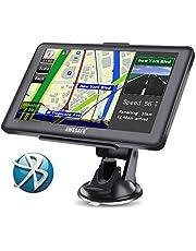 AWESAFE GPS para Coche de 7 Pulgadas Pantalla con Bluetooth, Negro