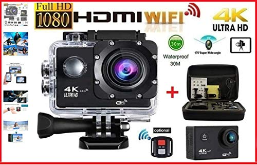 PRO CAM 4K SPORT WIFI ACTION CAMERA ULTRA HD 16MP VIDEOCAMERA 30M SUBACQUEA
