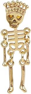 LOGU Punk Earrings Skull Skeleton Men And Women Jewelry Charm Personality Hollow Retro Creative Hip Hop Earrings (Color : ...