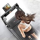 Sportstech FX300 Ultra Slim Laufband – Deutsche Qualitätsmarke – Video Events & Multiplayer APP, Riesen Lauffläche 51x122cm & kein Aufbau, 16 km/h,USB Ladeport, Pulsgurt kompatibel für Cardio Training - 9