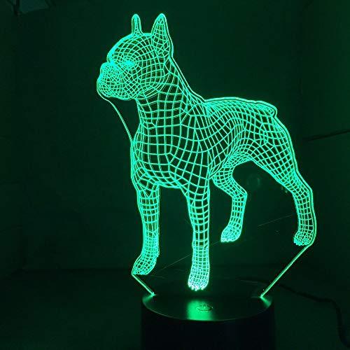 British bulldog 3D lámpara de mesa juguete para niños regalo lindo luz de noche LED en luz de noche animal regalo para niños dormitorio familiar decoración de fiesta