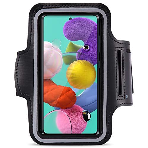 Jogging Tasche kompatibel für Samsung Galaxy A71 Handy Hülle Sport Lauf Armband Fitnesstasche