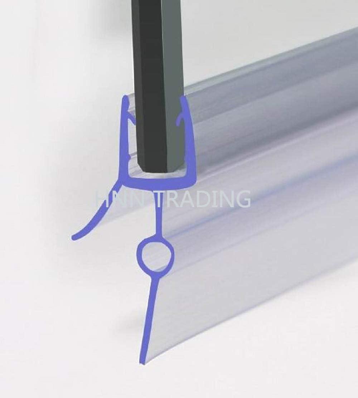 HNNHOME Paire de 2 joints d/étanch/éit/é en caoutchouc pour porte en verre incurv/ée droite jusqu/à 22 mm Up to 10mm