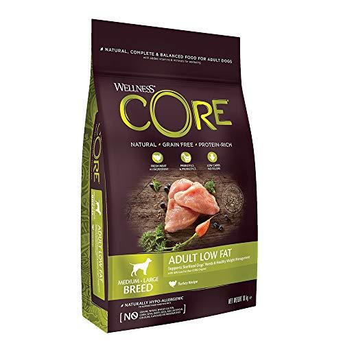 Wellness CORE Low Fat, Hundefutter trocken für sterilisierte oder übergewichtige Hunde, getreidefrei, Pute - 10 kg