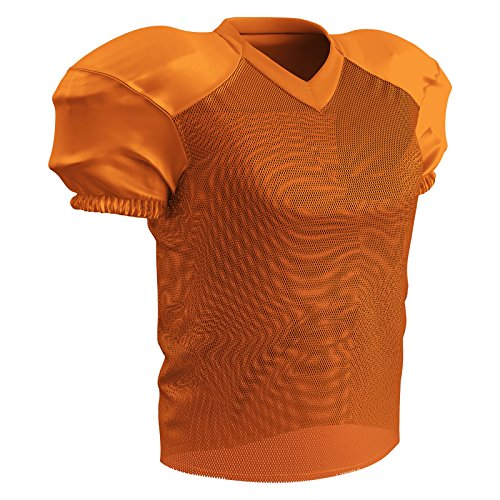 CHAMPRO Time Out Polyester Practice Football Jersey, Orange, x-Large