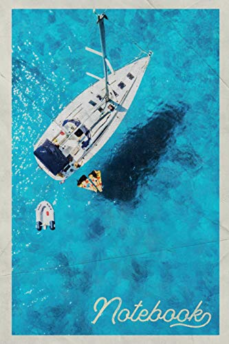 Notebook: Yacht Rentals Elegant Composition Book Journal Diary for Men, Women, Teen & Kids Vintage Retro Design Caribbean Cruise Adventure Journal