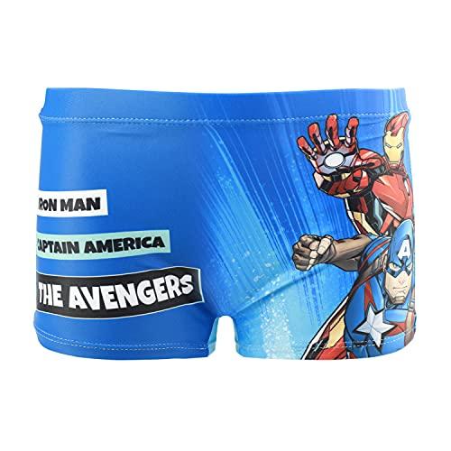 Characters Cartoons Marvel Avengers - Bambino - Costume da Bagno Pantaloncino Boxer Slip Parigamba Mare Piscina - Primavera Estate - Licenza Ufficiale [1895 Blu - 6 Anni]