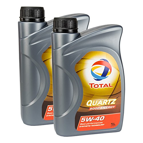 2x motorolie TOTAL QUARTZ 9000 ENERGY 5W-40 1L