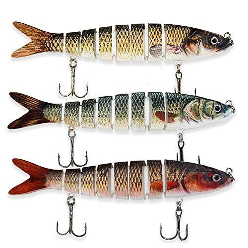 ods lure Appâts pour la pêche au Bar 8 Segments Multi...