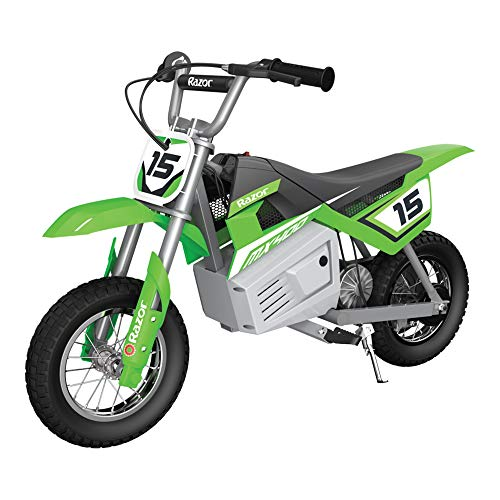 Razor MX400 Dirt Rocket Kids Ride On 24V Electric Toy Motocross Motorcycle Dirt Bike, Speeds up to 14 MPH, Green