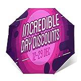 Paraguas Plegable Automático Impermeable Oferta de Venta increíble, Paraguas De Viaje Compacto a Prueba De Viento, Folding Umbrella, Dosel Reforzado, Mango Ergonómico