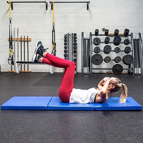 FORZA METIS Colchoneta Plegable de Gimnasia/Yoga – Esterilla Gruesa 180cm x 60cm para Pilates, Entrenamientos & Estiramientos