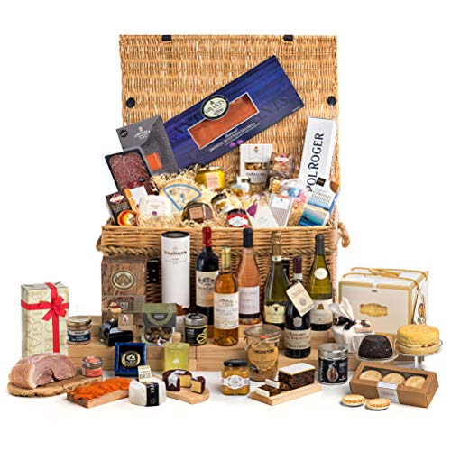 The Ultimate Christmas Food & Wine Hamper in Very Large Wicker Basket - FREE UK Delivery