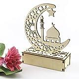 Ramadan Laterne,Eid Mubarak Ramadan LED Holz Lampe , Muslim Ramadan Festival Dekoration Star Lanterns,Halbmond Nachtlicht Für Muslimischen Islam Eid,Wesentliche Dekorationen für...