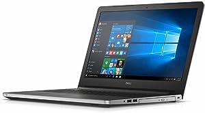 Dell Inspiron 15.6-inch 5000 Series HD Laptop PC, AMD Quad Core A10-8700P 1.8GHz, 12GB DDR3 SDRAM, 1TB HDD, DVD +/- RW, Radeon R6 Graphics, WebCam, Bluetooth, HDMI, WiFi, Windows 10-Silver