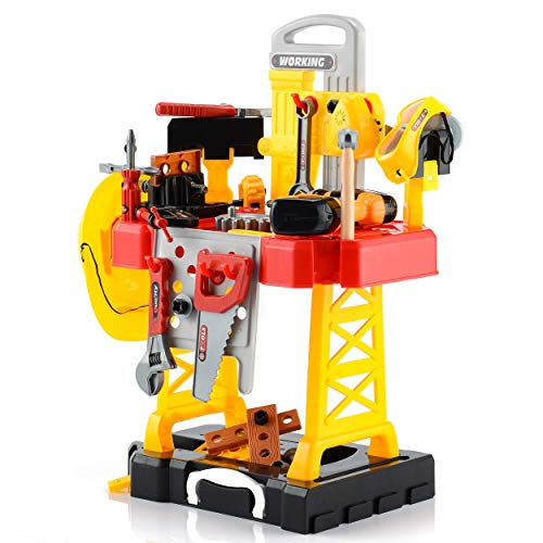 100 Pieces Kids Construction Toy Workbench
