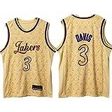 ZMIN Jerseys de Baloncesto para Hombre # 3 Lakers Davis, Ventilador de Ropa Deportiva Fan sin Mangas Capacitación de Mangas Chaleco de apuestas Calientes Malla Transpirable Secado rápido,XL 180~185cm