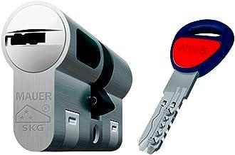 Bombin de seguridad MAUER NW5 31x31 color NIQUEL, reforzado, antirotura, antibumping, antitaladro, leva antiextracción, cerradura para puerta, incluye 5 llaves el cilindro y tarjeta de seguridad