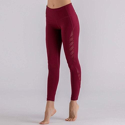 WZXY Pantalon de Yoga à Taille Haute Maigre Rose Leggings de Yoga pour Contrôler l'exercice sur Le Ventre Fitness Exercice jambières d'entraîneHommest Sport Collants de Gymnastique