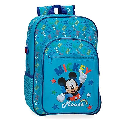 Disney Mochila Escolar Mickey Stars  29x38x12 cm  Azul