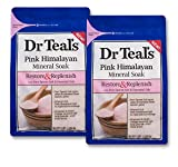 Dr Teal's Restore & Replenish Pure Epsom Salt & Essential Oils Pink Himalayan Mineral Soak 48 Oz Dr. Teal's (Pack of 2)