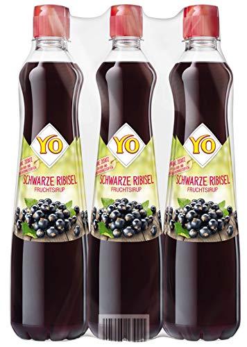 Yo Sirup Schwarze Ribisel, 6er Pack, PET (6 x 700 ml)