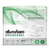 Bragapañal Plus - Dispositivos Absorbentes para Incontinencia de Intensidad Media, Unisex, Talla L...