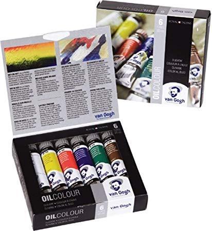 Set iniciación de oleos Van Gogh 6 tubos de 20 ml