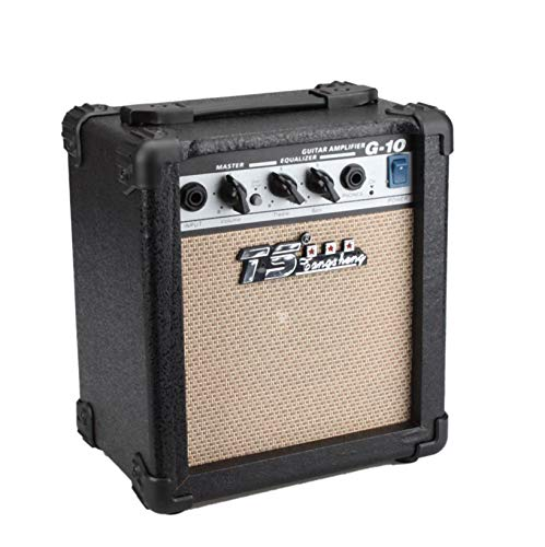 10W Guitar Amplifier; GT Portable Mini Wood&Electric Guitar Amplifier Guitar Amps Musical Instruments Accessory; Used For Musical Performance, Shows, Party, Concert; Black & Beige