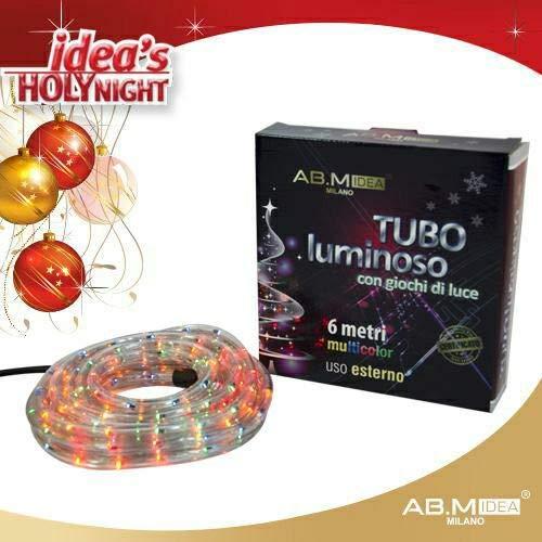 Tubo luminoso 6MT Multicolor decoración navidad