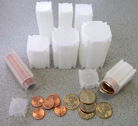 100 Coin Safe Square Coin Tubes: Nickels