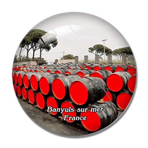 Imán para nevera con diseño de Banyuls-sur-mer Francia Terres des Templiers en 3D