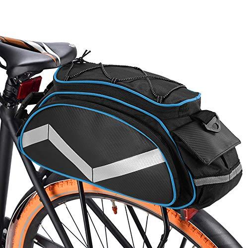 Lixada Fahrrad Gepäckträgertasche 13L Multifunktion Isolierte Stammkühltasche Fahrradtasche Gepäckträger Umhängetasche Handtasche