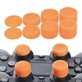 YoRHa Professional Thumb Grips Thumbstick Joystick Cap Cover (Orange) Extra High 8 Units Pack for PS4 Dualshock 4, Switch PRO, PS3, Xbox 360, Wii U Tablet, PS2 Controller