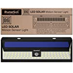 RuneSol 86 LED Motion Sensor Solar Powered Light | LED Garden Lights - Light Your Patio, Fence, Garden, Driveway… 2