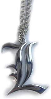 Animekingdom-Death Note Necklace L Lawliet Kira Costume Cosplay charm necklace Silver