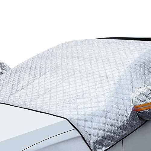 YAVO-EU Protector para Parabrisas, 230 * 146 cm Cubierta de Parabrisas Coche Protector Parabrisas Hielo, Protege de Nieve, Escarcha, Hielo y Rayos UV