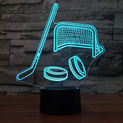 Hockey 3D Nachtlicht Usb Led Tischlampe 3D Illusion Lampe 7 Farbwechsel Für Kinder Kinder Schlafzimmer Atmosphäre Lampe Fernbedienung