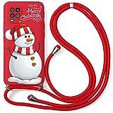 Yoedge Coque Collier pour Xiaomi Mi 9T / 9T Pro, Rouge Silicone Etui avec Motif Cerf de Noël,...