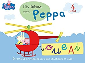 Mis letras con Peppa - 4 años (Aprendo con Peppa Pig) (Spanish Edition)