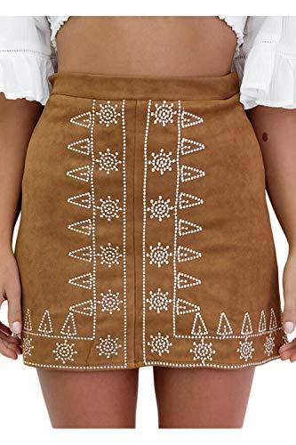Adelina zomer vrouwen elegant geborduurd suède minirok party jurk tuniek linnen zwart modieuze bloemenprints feestjurk