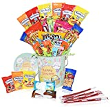 Easter Snack Gift Tin Basket - Easter Candy, Gummy, Eggs, Easter Chocolates - Great Easter Care Package for Family, Friends, Kids, Coworkers - Green Tin