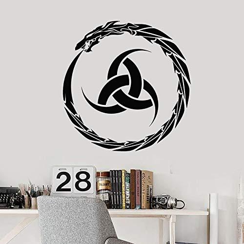 Calcomanía de pared de dragón fresco círculo creativo irlandés pegatinas de ventana de vinilo irlandés niños dormitorio sala de juegos decoración del hogar papel tapiz
